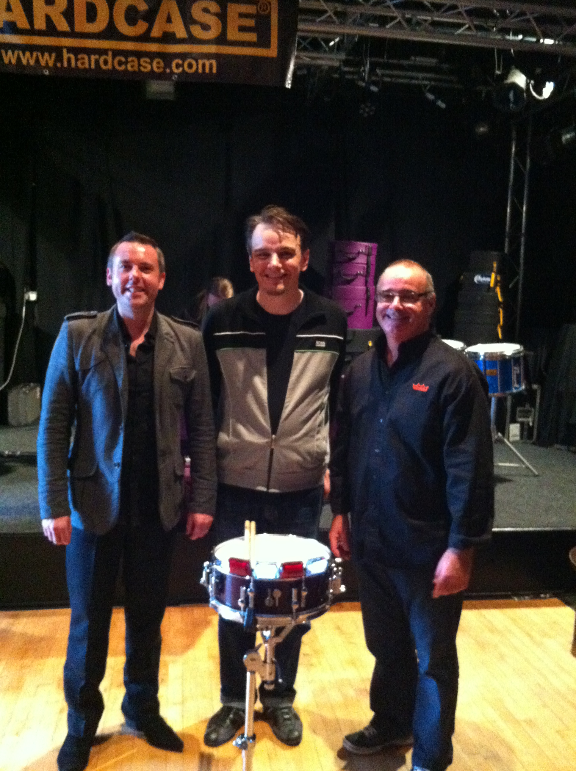 Rob, Jim and Gavin Harrison – 'Hardcase' drum clinic 2012
