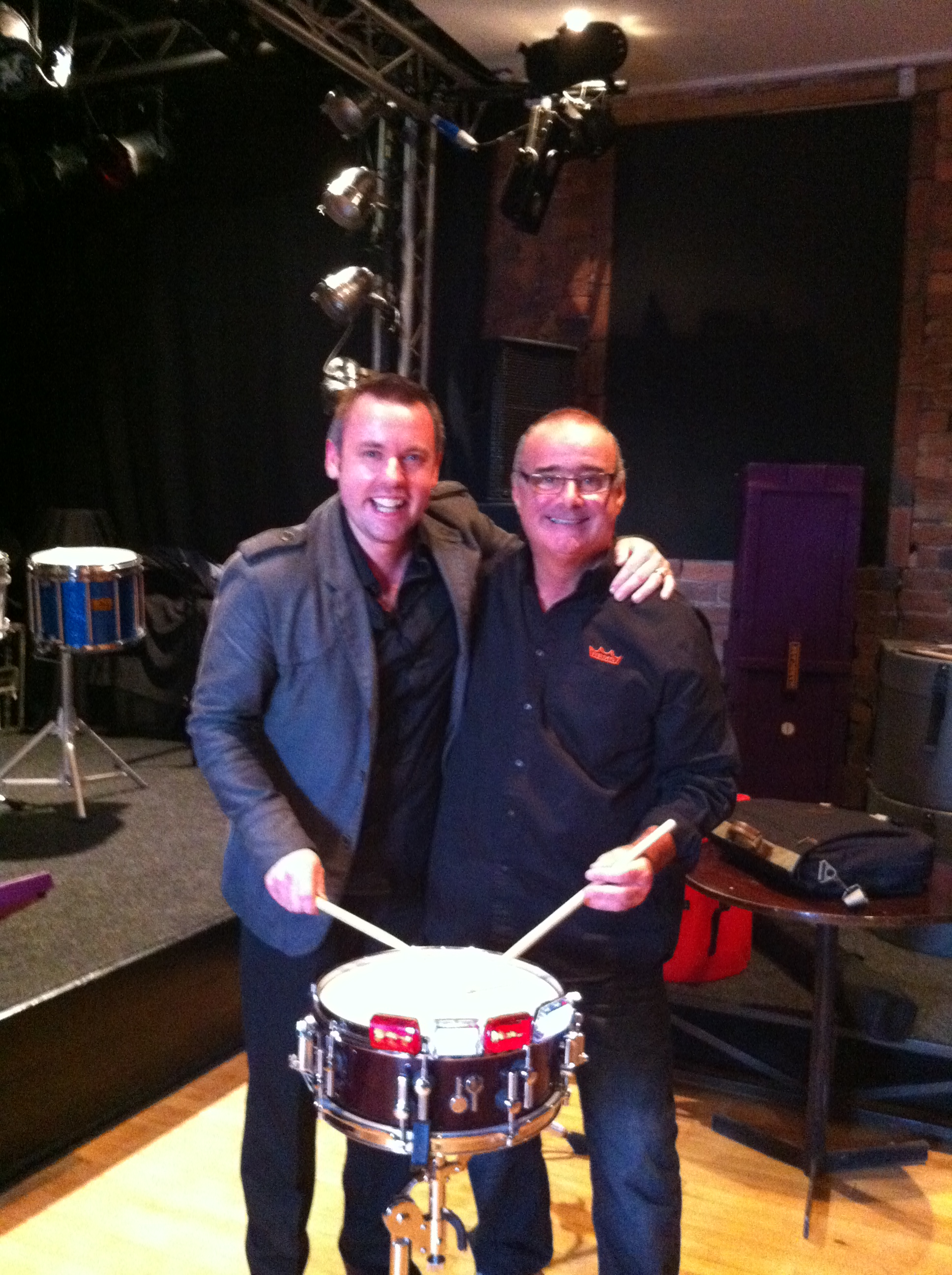 Rob and Jim Kilpatrick at the' Hardcase' drum clinic 2012