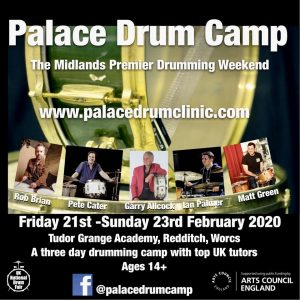 Palace Drum Camp. @ Tudor Grange Academy